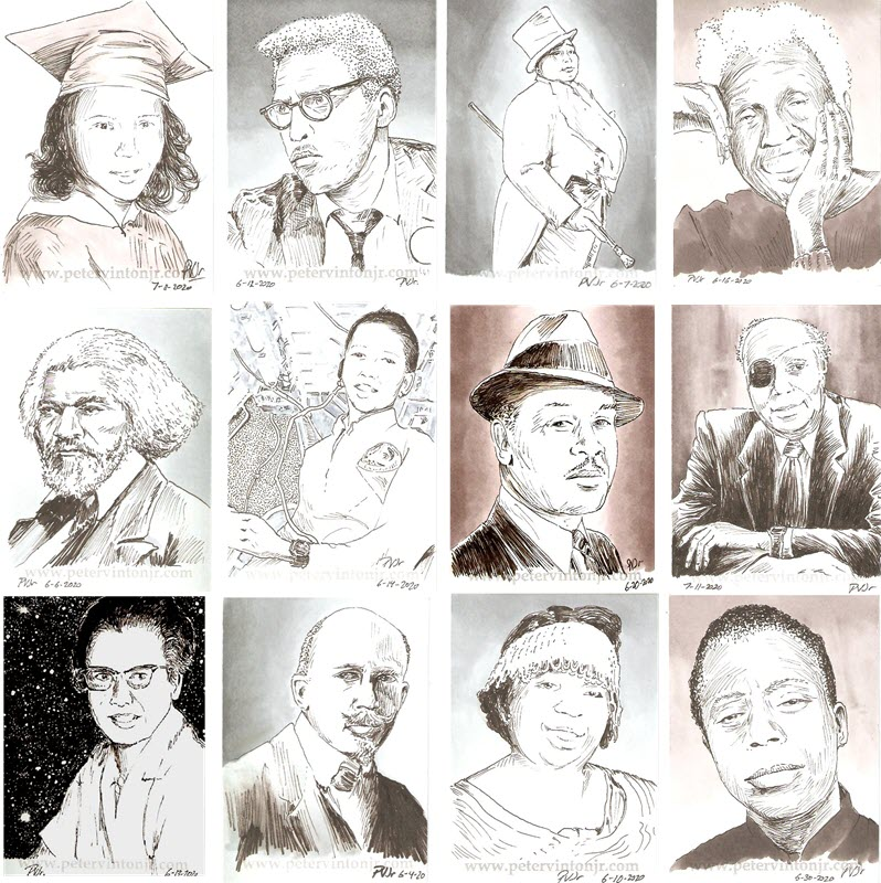 Black Lives Matter sketchards - Series 1